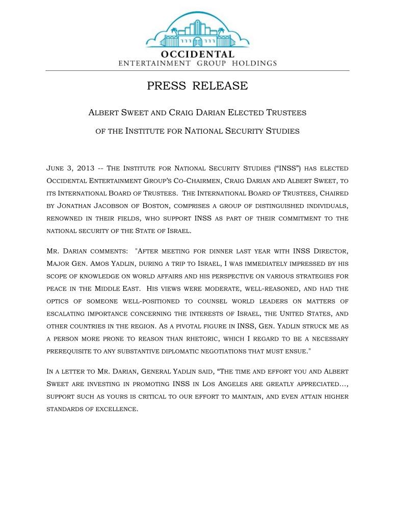 Press-Release-INSS-2013